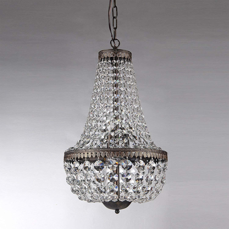 6 Light Antique Bronze Crystal Chandelier Pendant Ceiling Fixture Lightfixtures Lighting Decor Lights R Empire Chandelier Chandelier Crystal Chandelier
