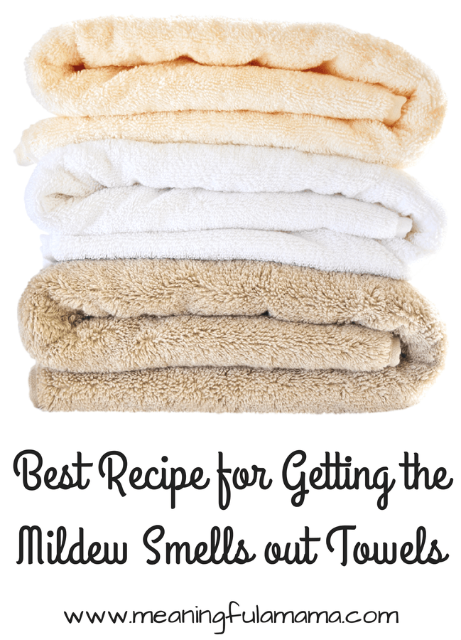 Getting Out The Musty Mildew Smell Of Towels Good Info