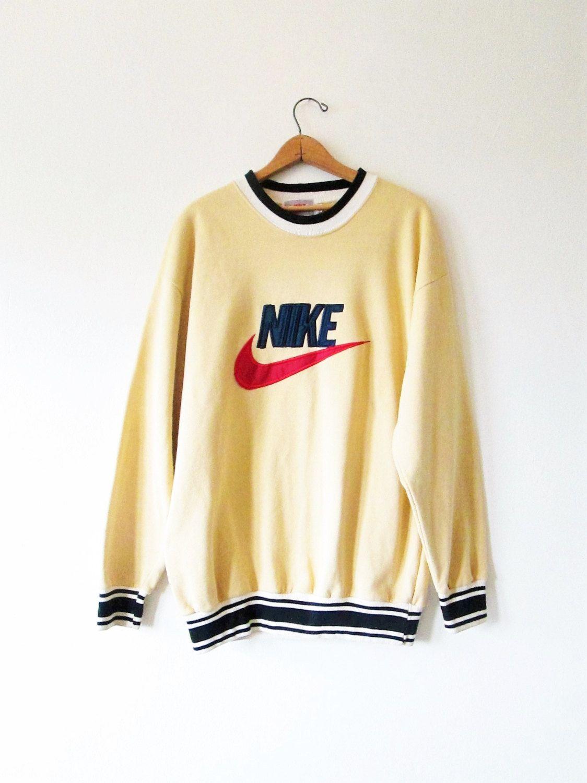 Vintage 1990s Yellow Nike Swoosh Sweatshirt Sz M Etsy Yellow Nikes Sweatshirts Red Fashion [ 1500 x 1124 Pixel ]