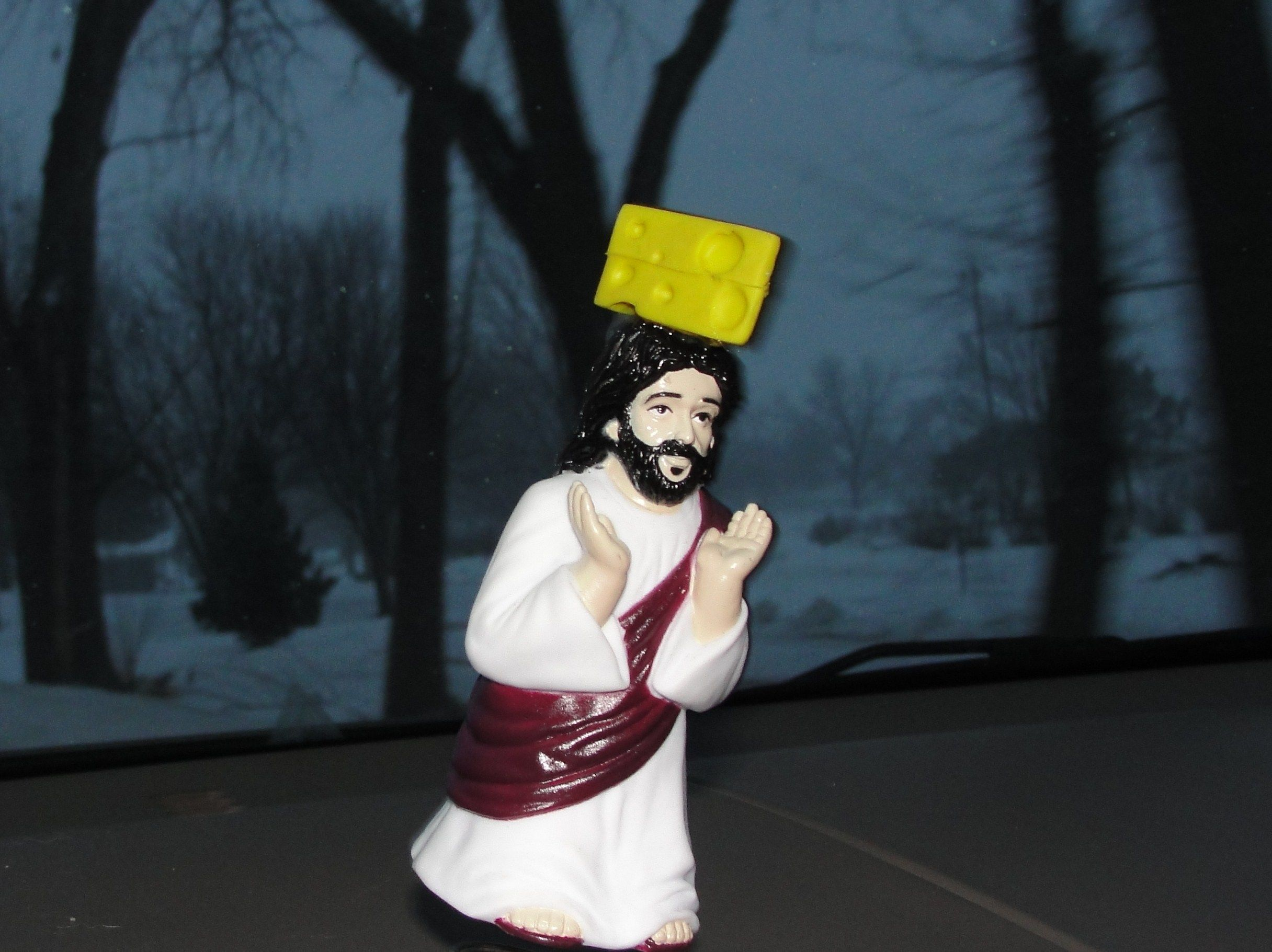 Cheesehead Jesus Dashboard Cheesehead Green Bay Wisconsin