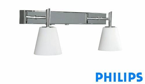 Aplique Pared Philips Glacier 2 Luces Ideal Banos Acero 867 00 Luces Para Banos Luces Lamparas