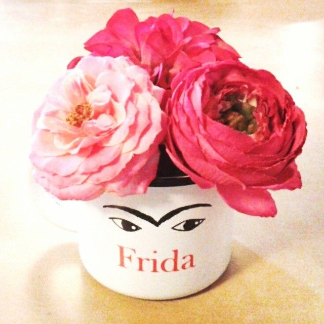frida peonies enamel mug- dunno why I love this so much