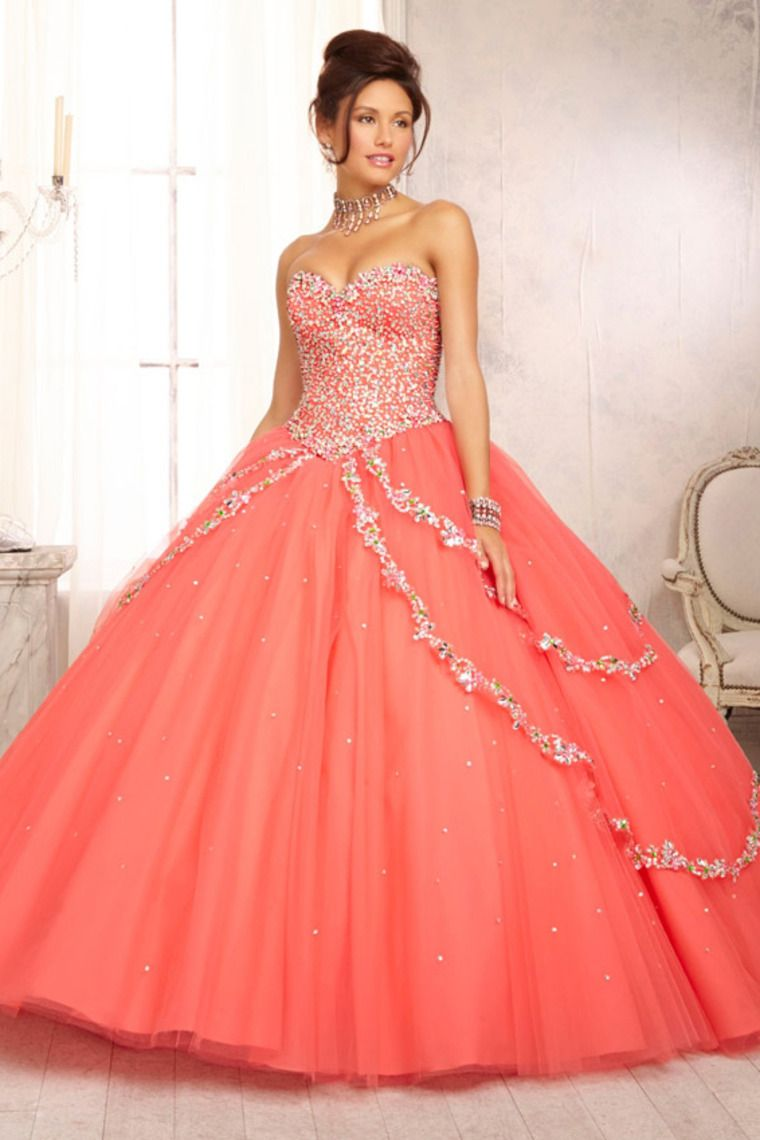 Quinceanera Dresses Sweetheart A Line Floor Length Beaded Bodice. New Hot  A-line orange Ball Gown Formal Evening Party Prom Bridal Wedding Dress   445fd42da274