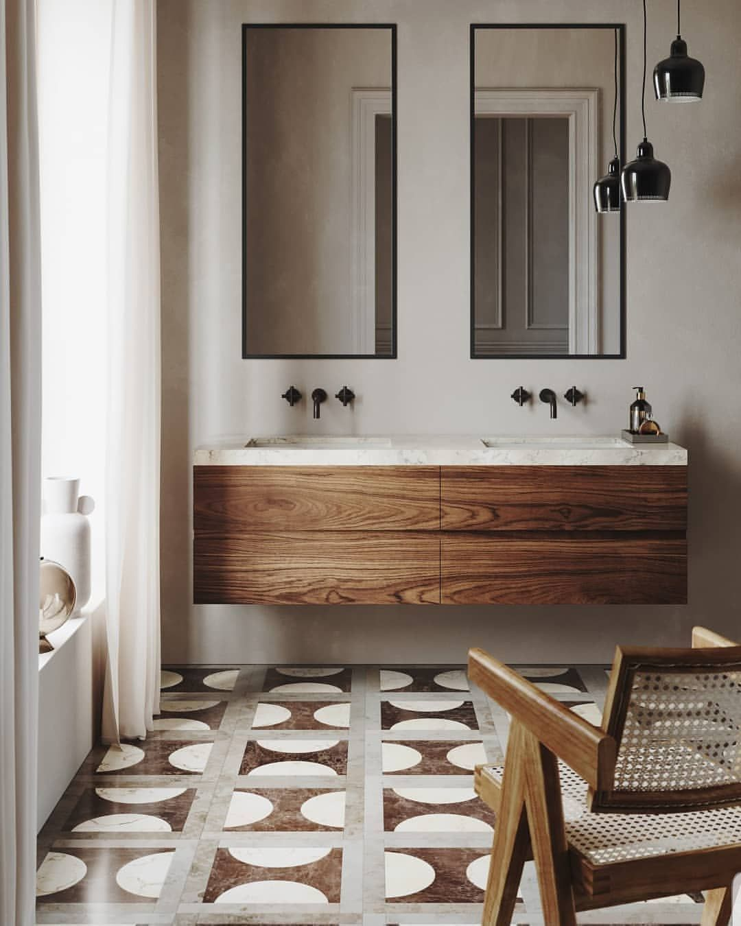 Stunning Photo Via Est Living Bathroom Tile Inspiration Unique Bathroom Industrial Style Bathroom
