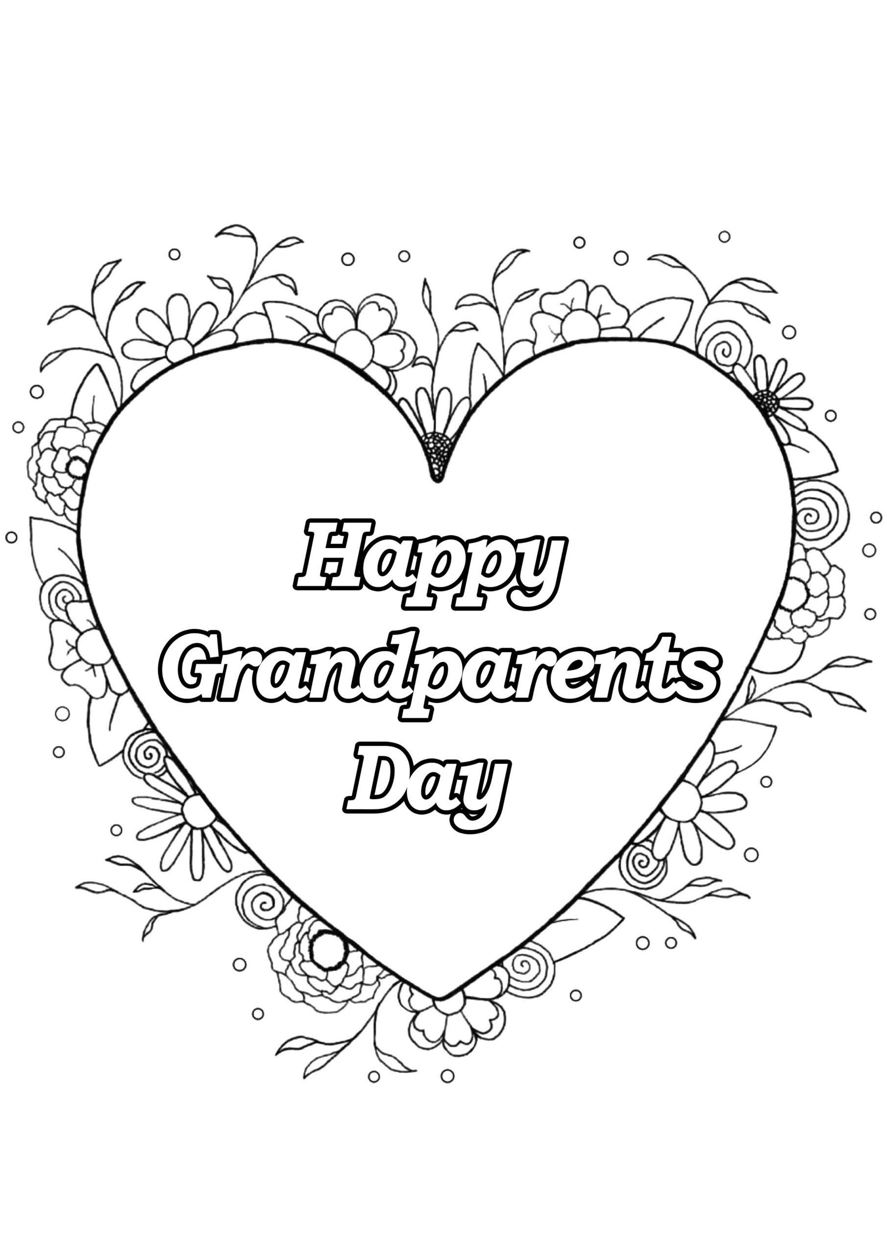 Grandparents Day Printable Coloring Pages Coloring Book
