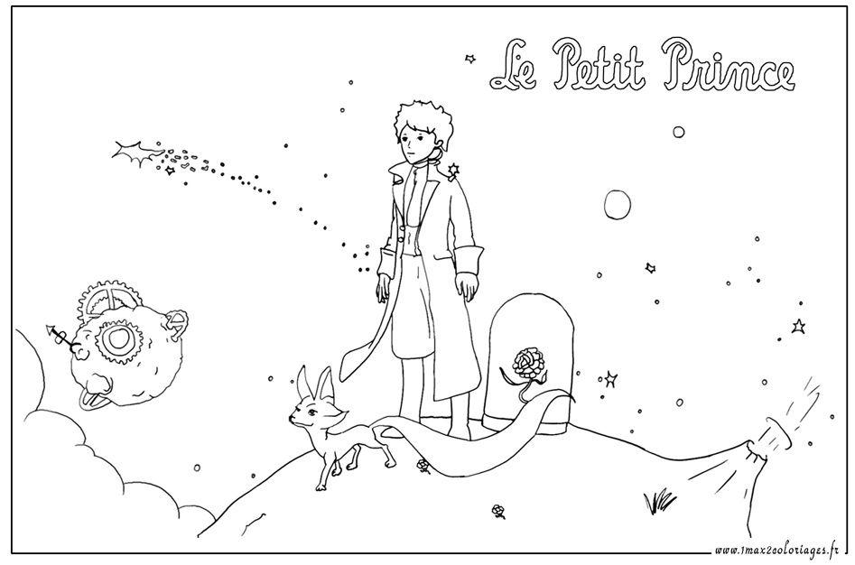 Le petit prince et le renard un max de coloriages - Coloriage de prince ...