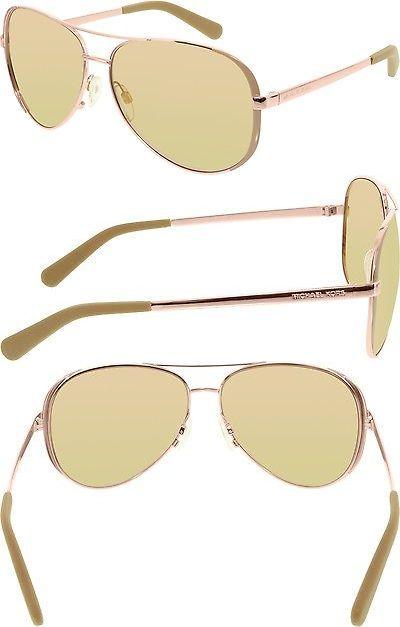 68ecc032b91 Sunglasses 45246  Michael Kors Women S Chelsea Mk5004-1017R1-59 Rose Gold  Aviator Sunglasses -  BUY IT NOW ONLY   52.46 on eBay!