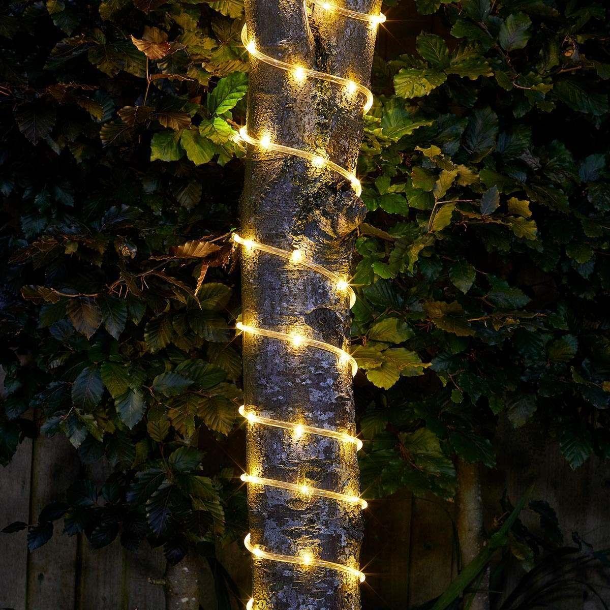 Solar Rope Light Warm White 100 Leds Led Rope Lights Solar Rope Light Led Rope