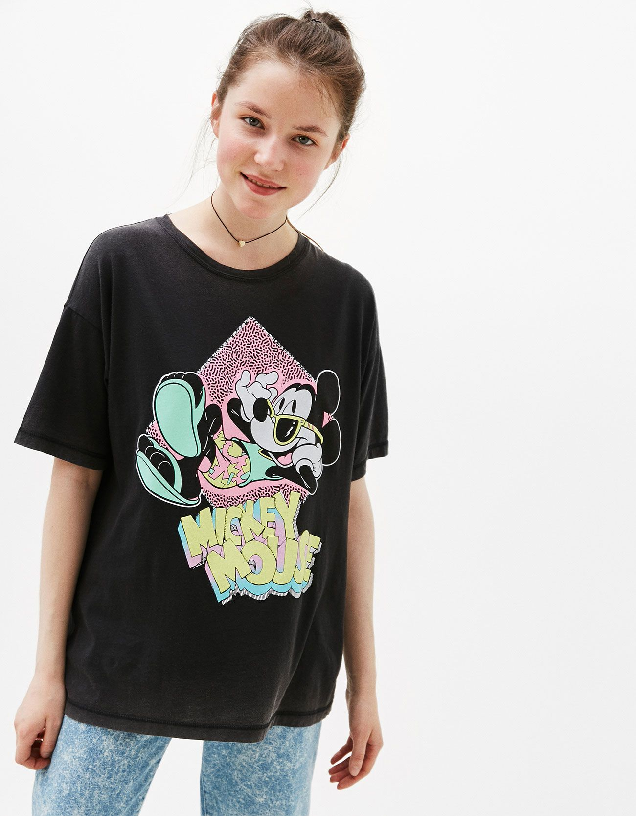 5f7d70dd Mickey 80s print T-shirt. Discover this and many more items in Bershka with  new products every week