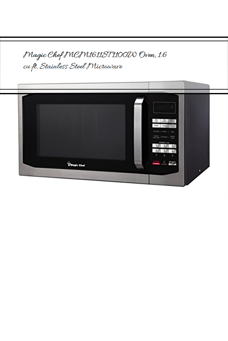 Magic Chef Mcm1611st 1100w Oven 1 6 Cu Ft Stainless Steel