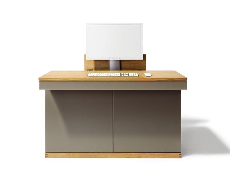 Meuble ordinateur en bois massif cubus meuble ordinateur team