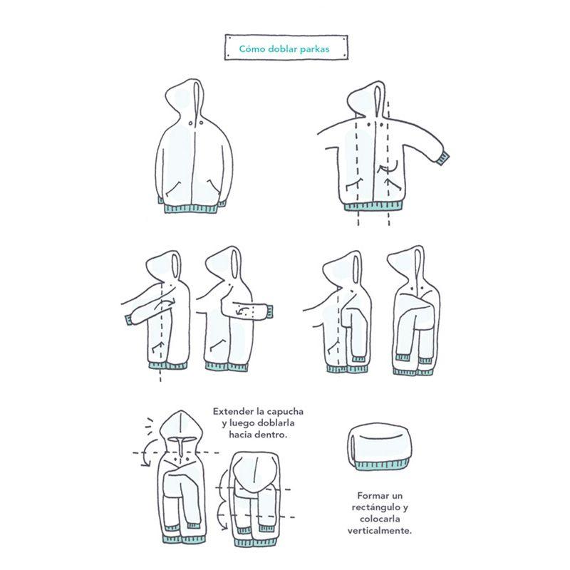 C mo doblar parkas marie kondo hogar tips home - Metodo konmari ropa ...