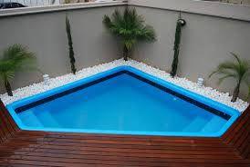 Piscina De Fibra Com Deck No Jardim Pesquisa Google Patio En