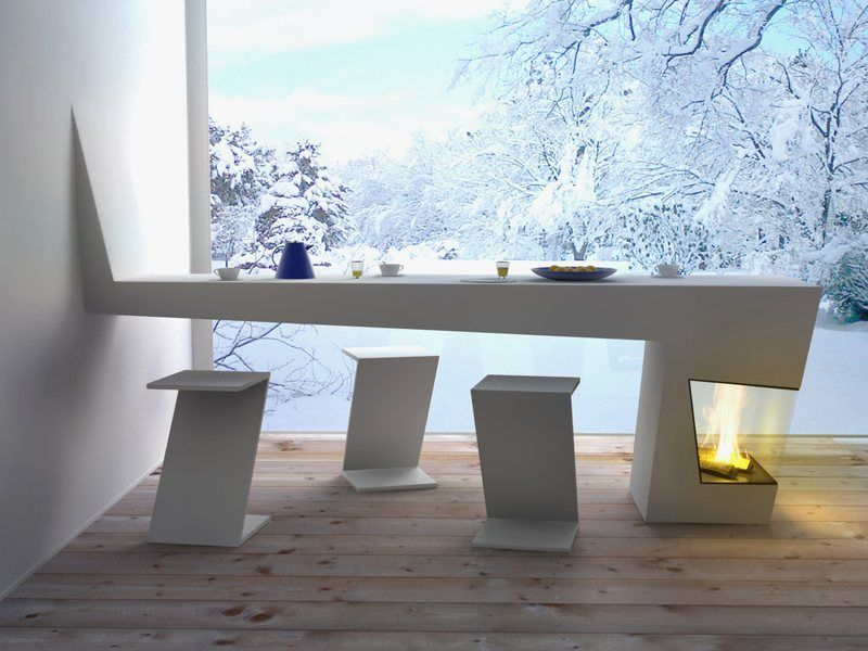 this is an awesome kitchen table that will not let you cold when winter comes designed by michael harboun this kitchen table has super modern design in - Modern Kitchen Tables