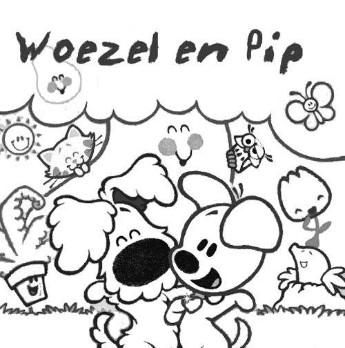 Woezel en Pip kleurplaat : Kleurplaten Woezel en Pip : Pinterest