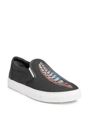MARCELO BURLON COUNTY OF MILAN Genek Feather Lauren Print Slip-On Sneakers NhBw0