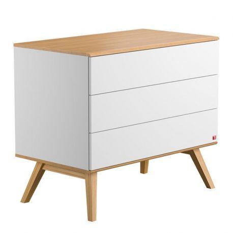 Découvrez la Commode à tiroirs blanche Nature Vox. Un design et ...