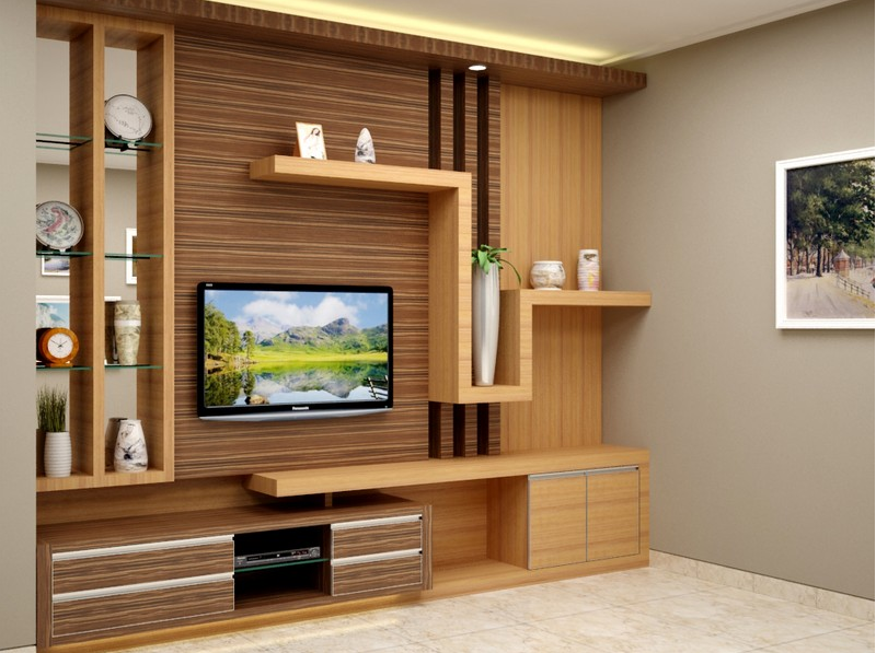 contoh desain rak tv 2017