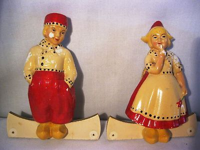 Vintage Dutch Holland Figure Wall Hangers