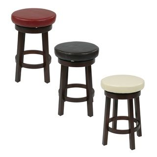 Shop For Office Star Products Round Leatherette Bar Stool. Get Free  Shipping Atu2026
