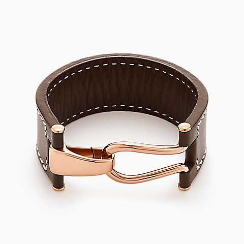 Paloma Picasso® Knot Wickelarmband aus 18KaratRoségold und Leder.