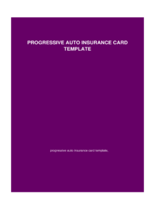 Blank Progressive Insurance Card Fill Online Printable Inside Auto Insurance Id Card Template Id Card Template Card Template Progressive Insurance