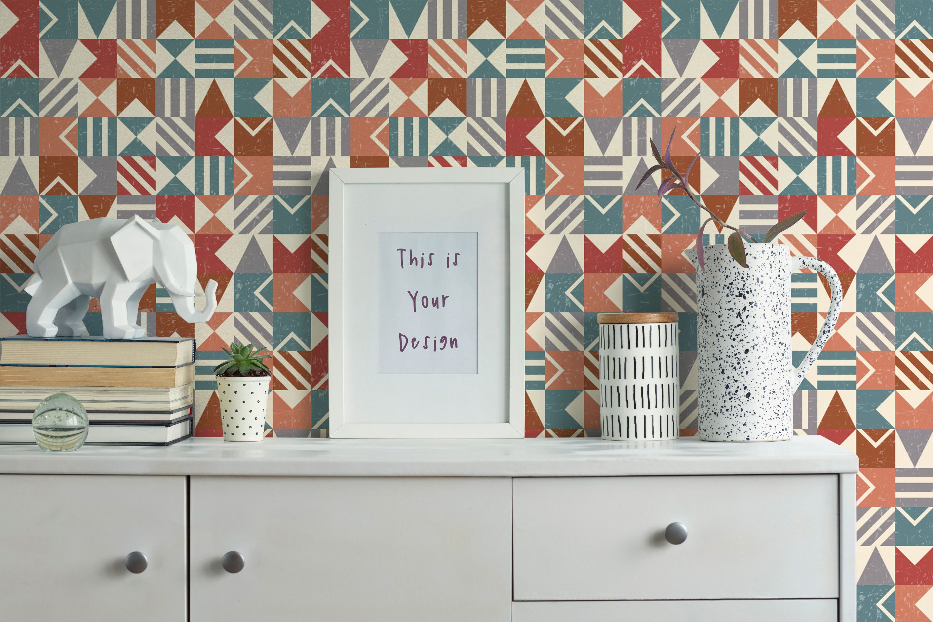 Vintage Peel And Stick Wallpaper Mosaic Wallpaper Etsy In 2020 Peel And Stick Wallpaper Mosaic Wallpaper Geometric Removable Wallpaper