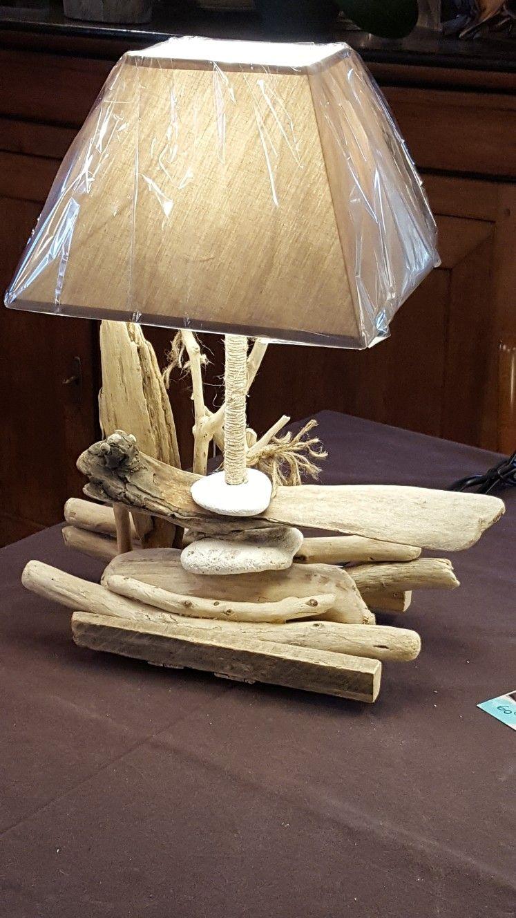 Créations En Bois Flotté Épinglé par jacq sur créations bois flotté | lampe bois