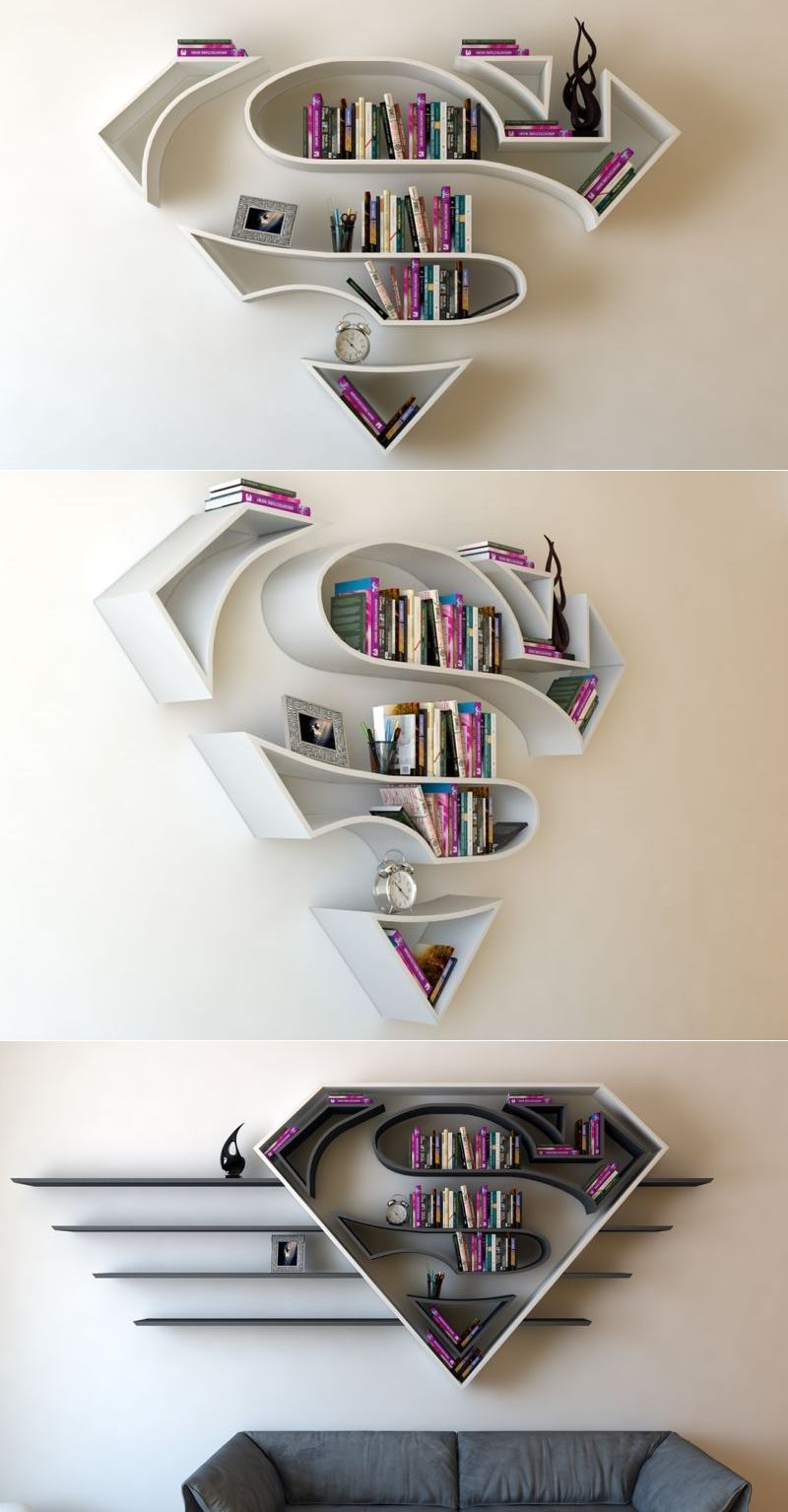 Superhero Themed Bookshelf Designs Shelving Shelvingunit Shelf Storageideas