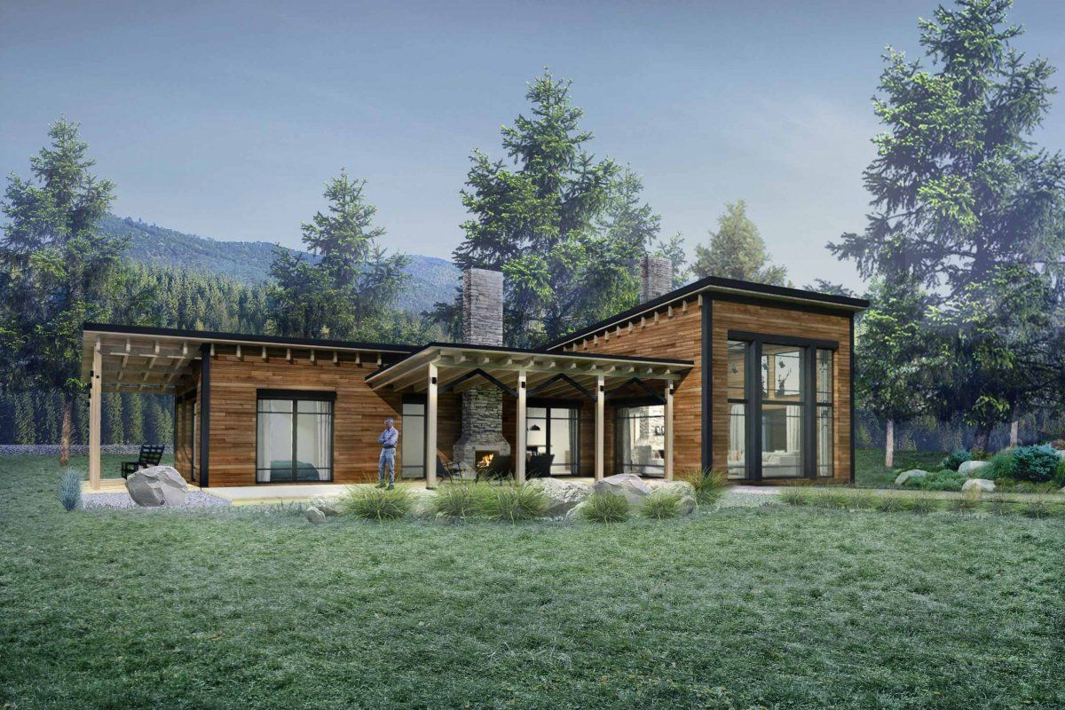 Class 115 With Images Modern Style House Plans Cabin House