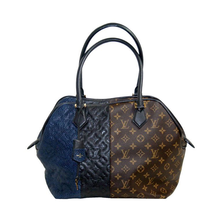 c2ce9a93f889 Louis Vuitton Limited Edition Marine Monogram Blocks Tote