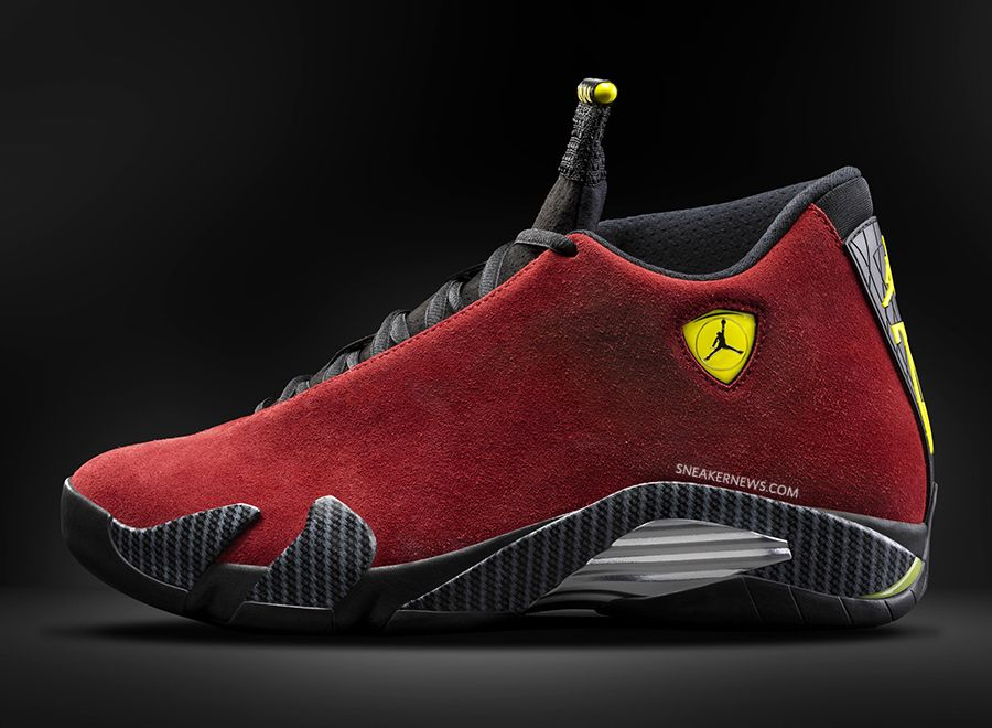 Air Jordan 14 Red Suede