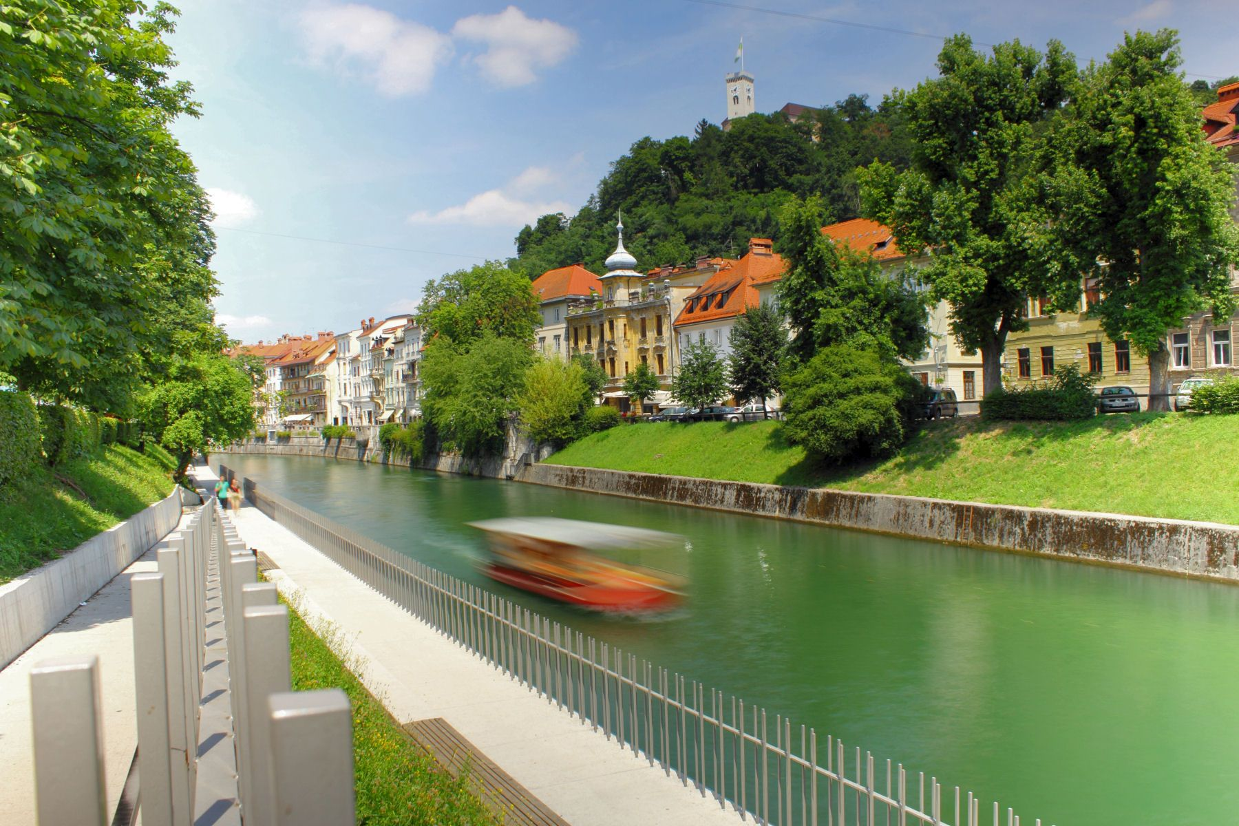 Ljubljanica River Runs Through Ljubljana Old Town Ljubljana Canal River