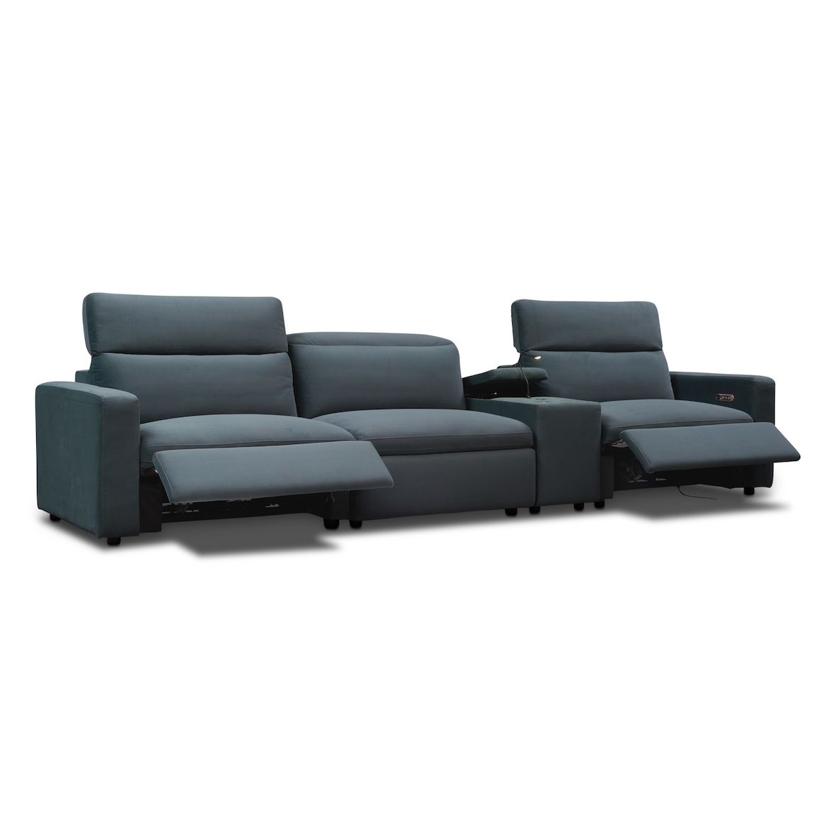 Happy 4 Piece Dual Power Reclining Sofa With Console