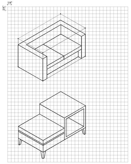 3d Perspective Drawing Room: How To Draw, Furniture And To Draw