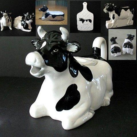 Kitchen Set 6 Pc Otagiri Cow 1980 Made In Japan