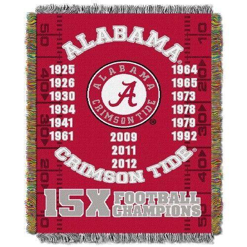 Alabama Crimson Tide Bama Throw Blanket Afghan Tapestry