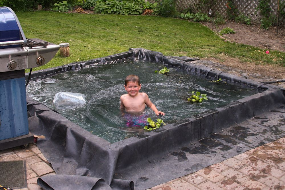 My 5 year old and i replaced our 100 gallon backyard pond for Large outdoor fish ponds