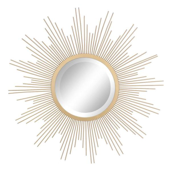 Stonebriar Collection Medium Irregular Gold Contemporary Mirror 23 In H X 23 In W Sb 6139a The Home Depot Gold Sunburst Mirror Gold Starburst Mirror Starburst Mirror Wall