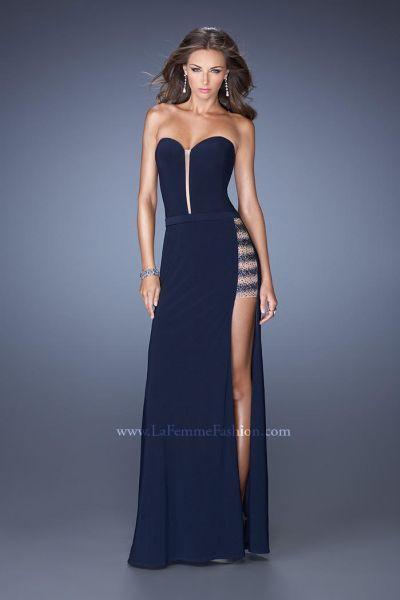 0b7fbcc22754 La Femme 19786 Jersey Illusion Formal Dress in 2019 | GLAMOROUS ...