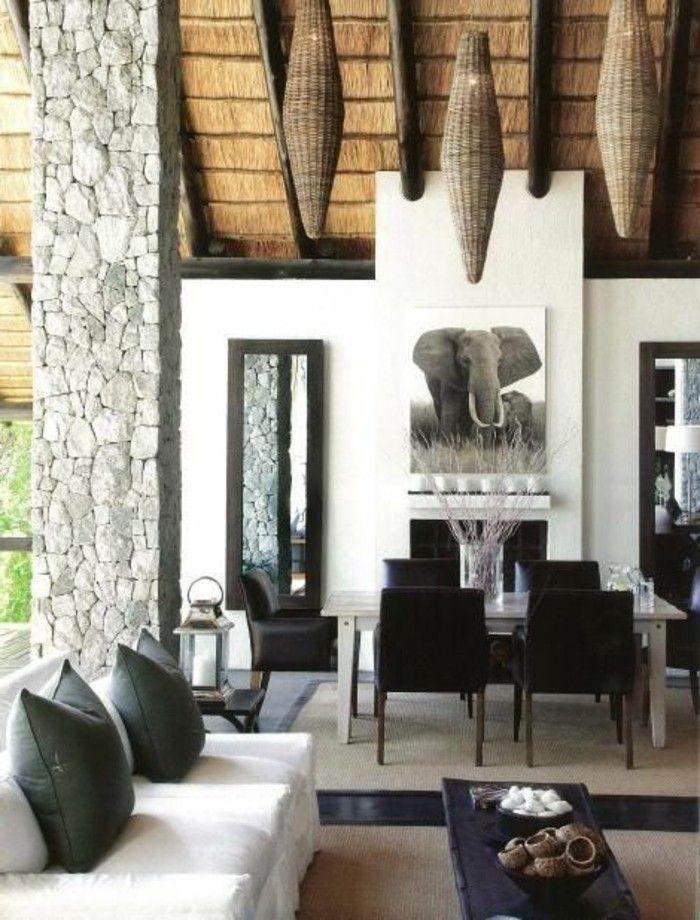 La d coration africaine diversit d ornements et proximit de la nature d co salon - Canape style africain ...