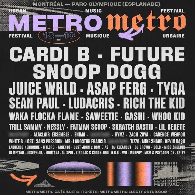 Metro Metro Festival 2019 Festival Hip Hop Festival Festival Design