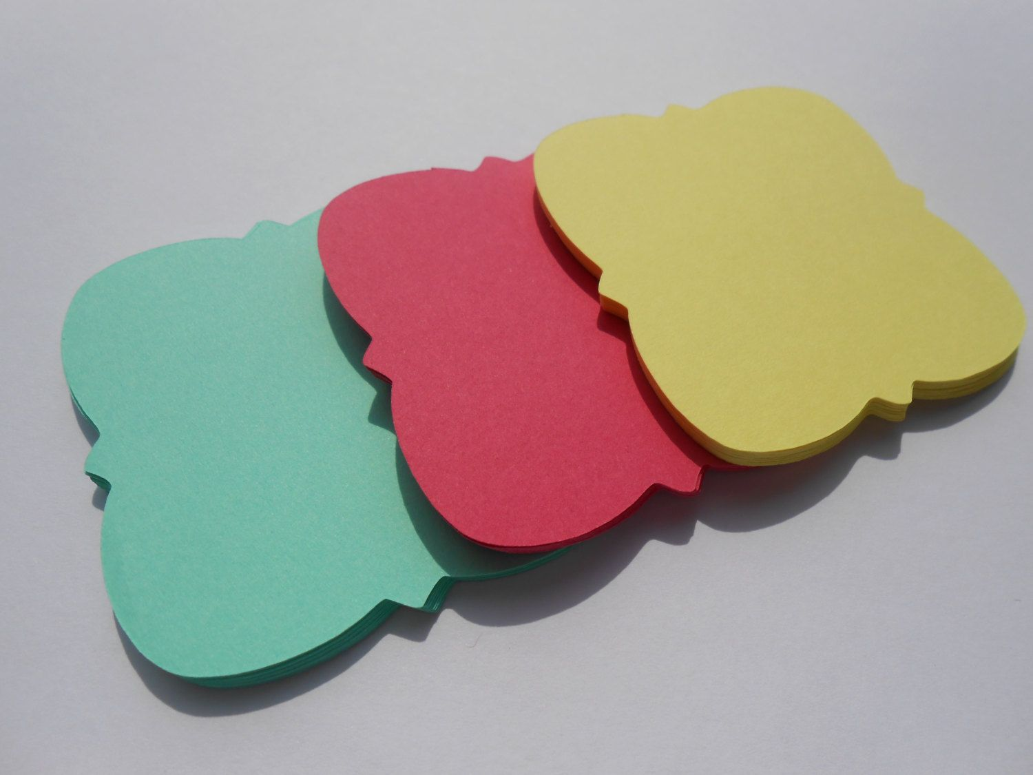50 \'Emma\' Square Tags. 2.5 inch. Your Choice Of Colors. Birthdays ...
