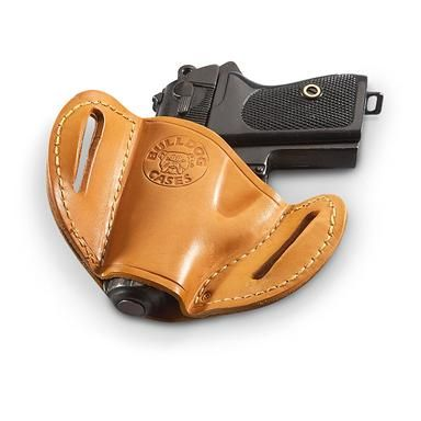 Bulldog Leather Belt Slide Holster Semi Automatic Pistol Right