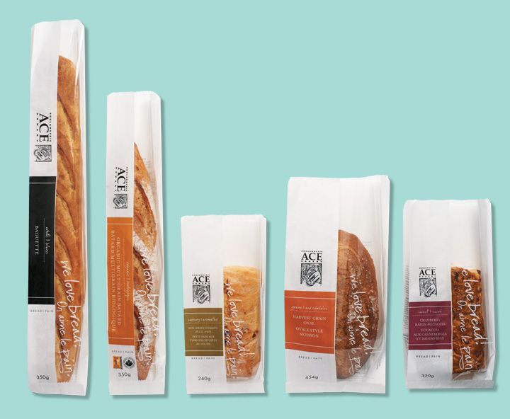 ACE Bakery - Packaging | We Are Tonic® Yummy bread packaging
