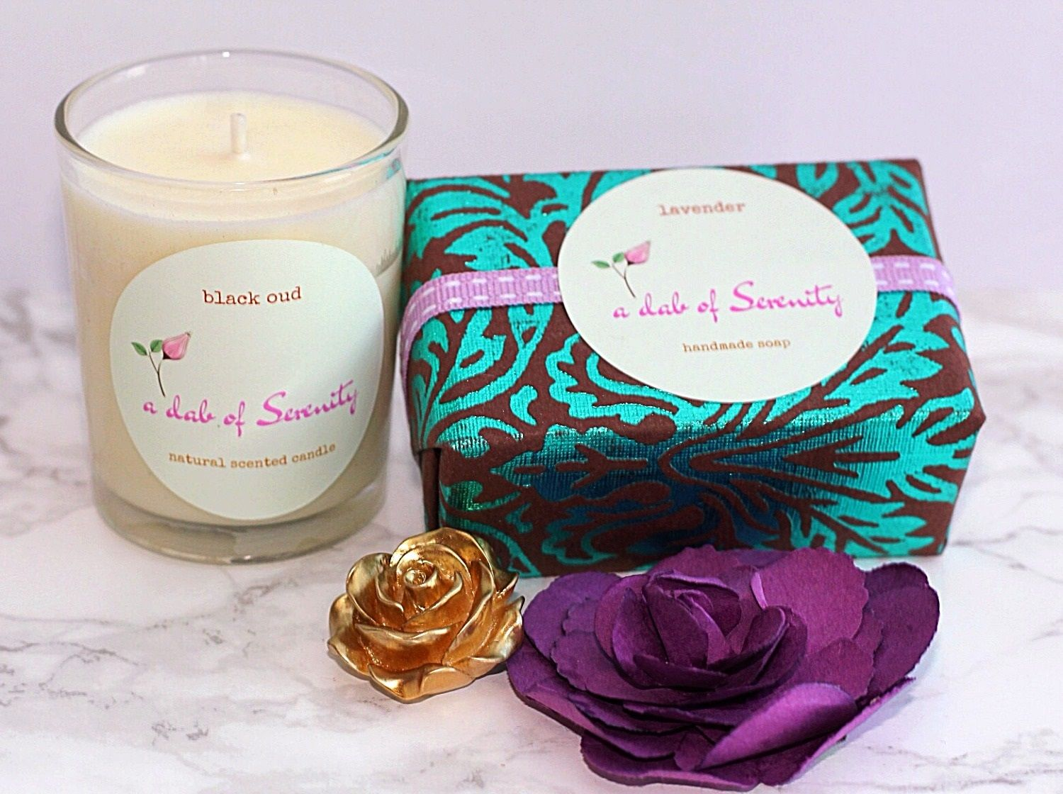 Black oud scented candle lavender natural soaphome