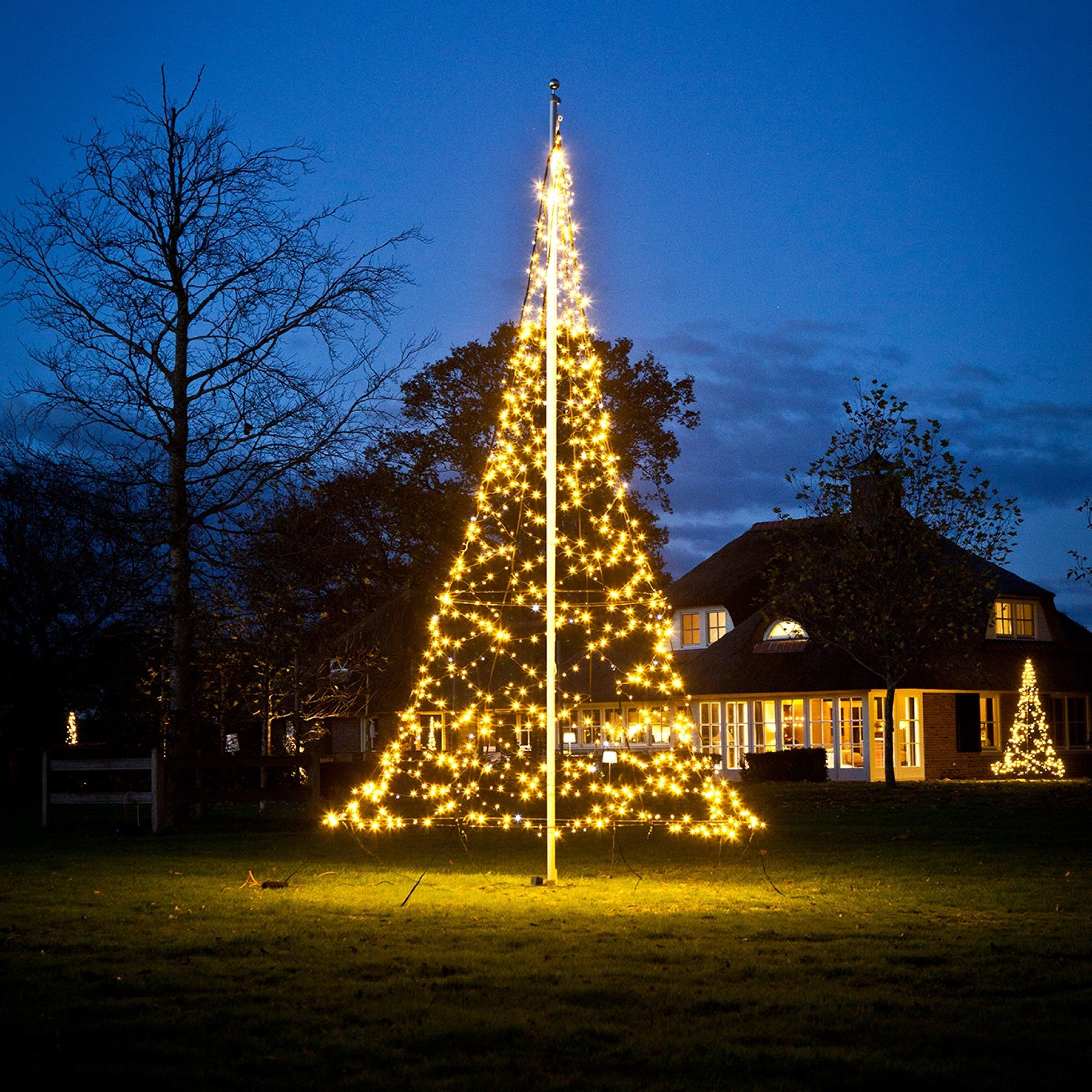 6m Fairybell Outdoor Pre Lit Tree 960 Warm White Leds