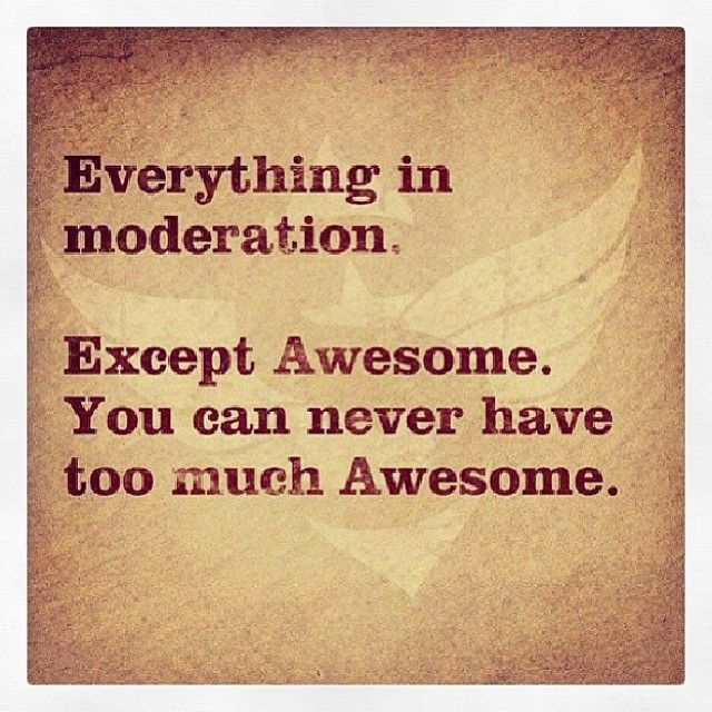 "@nicolemwilkins's photo: ""Everything in moderation. Except awesome. You can never have too much #awesome"""