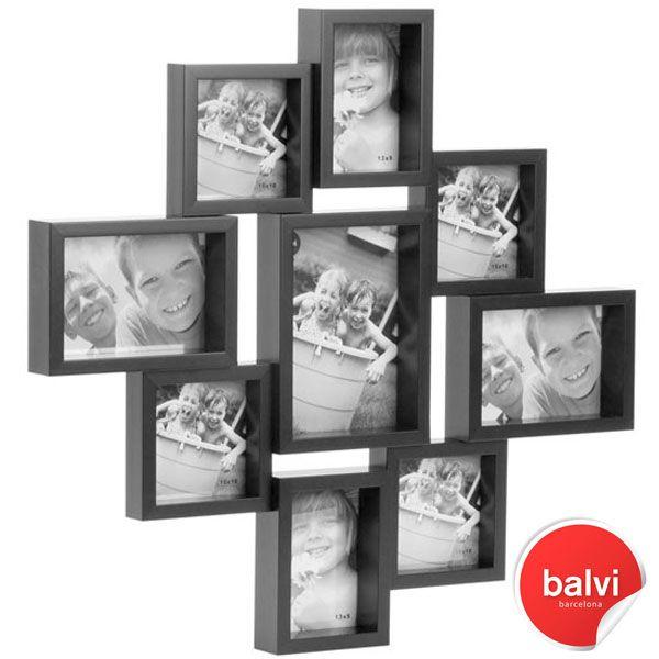city 9 multi photo frame black - Multiple Photo Frame