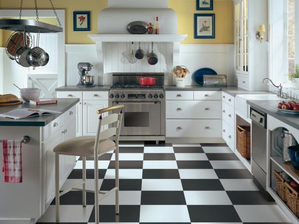 Vinyl Flooring in the Kitchen   Flooring types, Kitchen floors and Hgtv